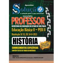 Apostila Professor De Educação Básica Peb Ii Sp História