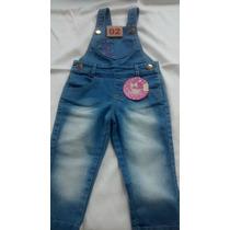 Jardineira Em Jeans Com Streesh - Infantil - Tam: 2 E 3
