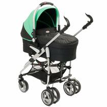 Carrinho De Bebê Com Moisés Verde