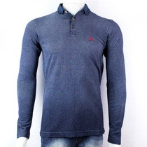Camisa Polo Acostamento Manga Longa Masculina 69104185
