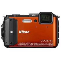 Câmera Digital Nikon Coolpix Aw130 16mp - 30m + 32gb