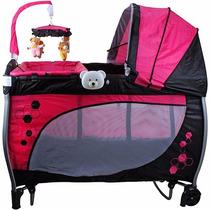 Berço Balanço Rosa Baby Style (novo C/ Garantia)