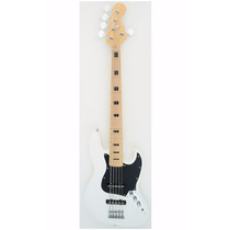 Baixo Custom Jazz Bass 5 Cordas Maple Branco Vintage 28wt