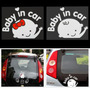Adesivo Para Carro Baby In Car - Bebê A Bordo Criança