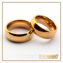 Alianças Ouro Tungstênio 7 Mm Noivado Ou Casamento