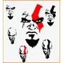 Adesivos God Of War Irado 2 Uni + Frete Gratis Ótimo Preço