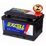Bateria Automotiva Excell 60ah 12v Com Visor E Iso 9001.
