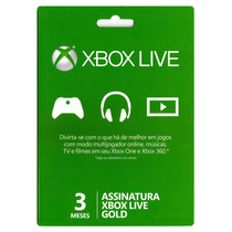 Xbox Live Gold Us Br Eu - 3 Meses Envio Imediato