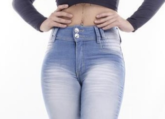 Calça Jens Hot Pant Levanta Bumbum Delave Estilo Panicat