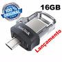 Pendrive 16gb Sandisk Celular E Pc Ultra Dual Drive Usb 3.0