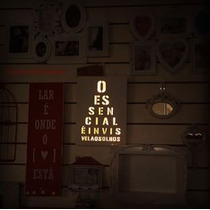 Quadro De Luz Mensagem - Invisível Aos Olhos