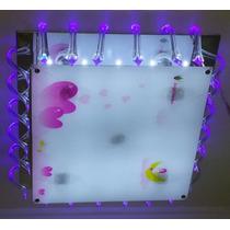 Lustre Infantil Luminaria Led Multicores Com Controle Remoto