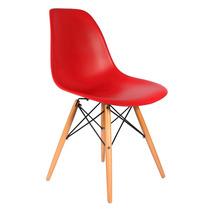 Cadeira Design Charles Eames Wood Eiffel Dsw Eiffel Vermelha