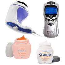 Massageador+eletroestimulador+ Redutor Medidas+ Seca Barriga