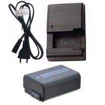 Kit Bateria Np-fw50 + Carregador P/ Sony Cybershot Dsc-rx10
