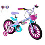 Bicicleta Infantil Frozen Aro 16 Feminina Mais Fone Ouvido