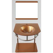 Gabinete De Vidro Dourado 50 Cm