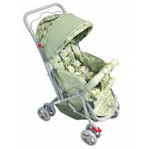 Carrinho De Bebê Junior Verde Tipo Berço Reversível