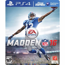 Madden Nfl 16 - Psn Ps4 Secundária Riosgames