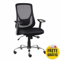 Cadeira Escritorio Alpha Diretor Ergonomica + Pu + Nf