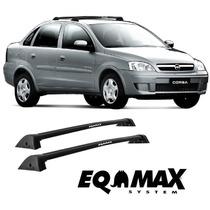 Rack Teto Corsa Sedan 2002 A 2012 Bagageiro Eqmax Wave Preto