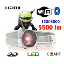 Projetor Led 3d Full Hd 5500 Lumens, Wifi, Android,hdmi,wxga