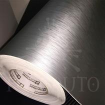 Adesivo Vinil Prata Aço Escovado P/ Móveis Geladeira Comoda