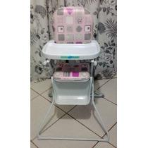 Cadeira De Alimentação Para Bebê - Rosa - Marca: Burigotto