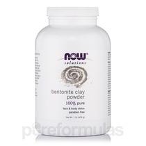 Now Solutions - Bentonite Argila Em Pó 100% Pure - 1 Lb (454