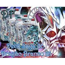 Combo 3x Deck Saga Do Dragão Branco De Olhos Azuis