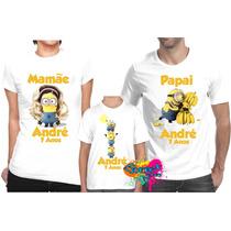 Kit Com 3 Peças Camiseta - Camisa Personalizada Minion / A3