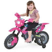 Moto Elétrica Infant Motocross - Rosa - Homeplay