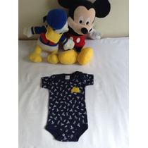 Body De Nenem Infantil Bebê / Roupa De Bebê / Azul