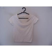 Blusa Feminina Branca Básica Manguinhas Cód. 621