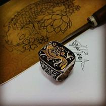 Anel Masculino Koi Ouro-prata Diferenciado Personalizados