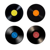 4 Descansos Copos Emborrachados Vinil Disco - Frete Grátis
