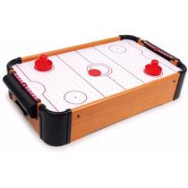 Mini Mesa Air Hockey Game Jogo Portátil A Pilha - 51x31x10cm