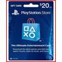 Playstation Network Card - Psn $20 - Melhor Preço Aproveite!