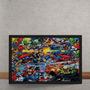 Quadro Decorativo Marvel Versus Dc Comics Quadrinhos 70x50