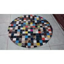 Tapete De Couro Redondo Colorido 1,60 De Diâmetro