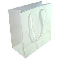 Sacola Papel Branco Ou Kraft 10x4x10 - C/50