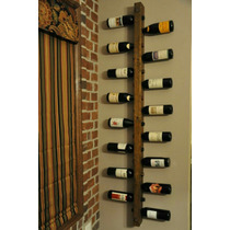 Adega Madeira Parede Rustica Vertical 100cm Vinho Bebida Bar
