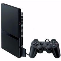 Playstation 2 Black Scph-90004 Slim Desbloqueado Sony Novo