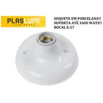 Plafon C/ Soquete Porcelana E-27 1000w C/ 50 Sanca Isopor