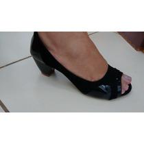 Sandalia Salto Alto Toque Feminino 9 Cm