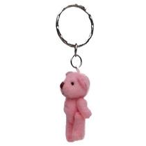 Chaveiro De Urso De Pelúcia 3,5 Cm - Rosa