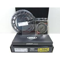 Kit Relação Transmissão Vaz Extreme Nxr150 Bros Corrente Kmc
