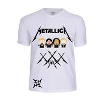 Camisas Camisetas Metallica Camiseta Banda Rock Baby Look