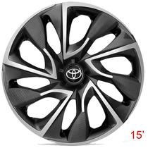Calota Aro 15 Esportiva Ds4 Cup Grafite Para Toyota Etios