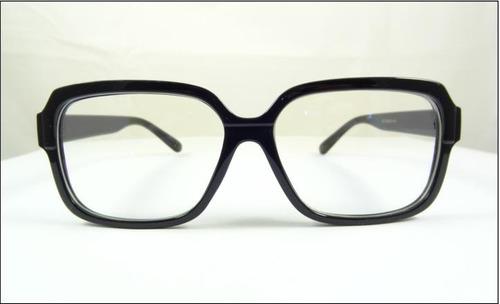 Armação Óculos De Grau Preta Grande Quadrada Fashion - A513 - R  59 ... eba0c435c5
